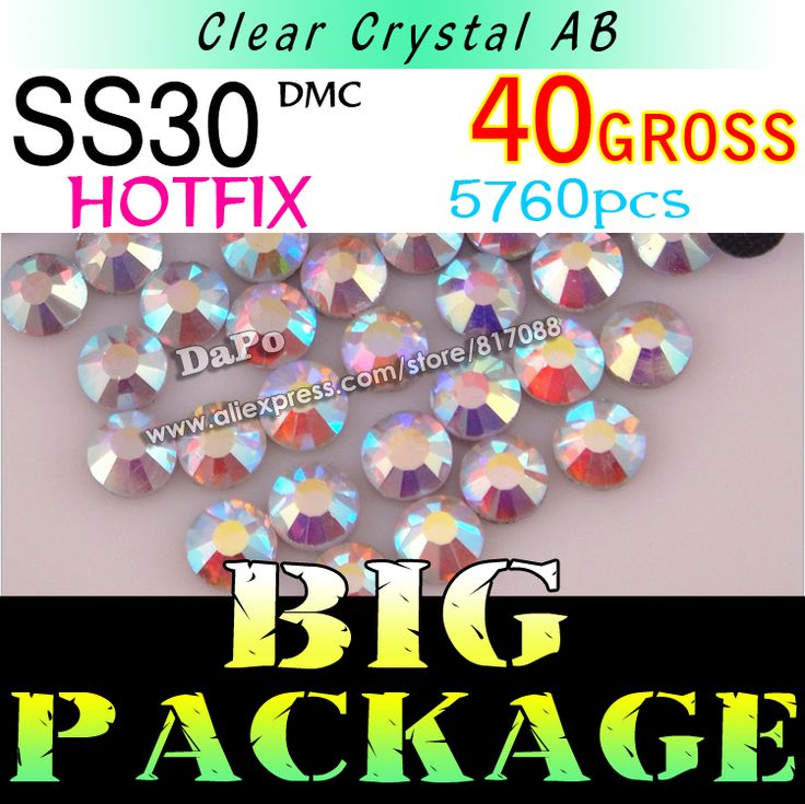 Wholesale! SS30 6.5MM 40Gross 5760pcs/Bag Clear AB Color DMC HotFix Rhinestones trim strass,DIY glass Hot Fix crystal stones-in Rhinestones from Home & Garden on Aliexpress.com | Alibaba Group