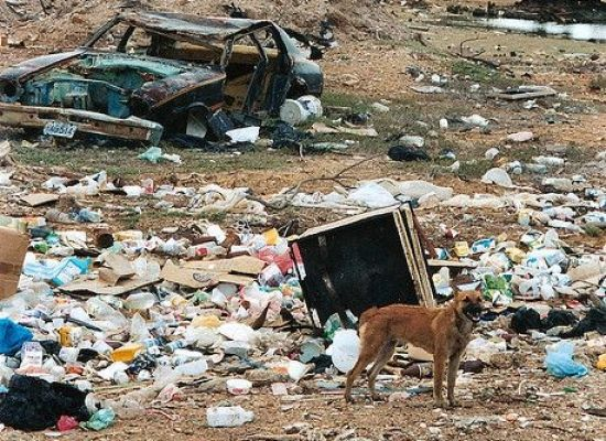 A Mon Trash Dump On The Touristy Beaches Of Kuta Bali Indonesia Stock