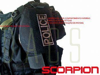 Colete tático scorpion preto