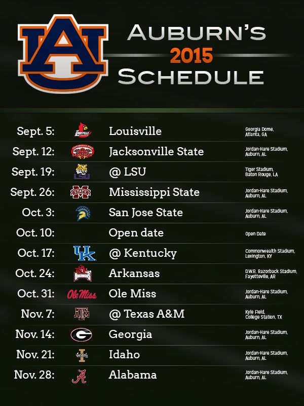 2015 Alabama & Auburn football schedules released - Yellowhammer News