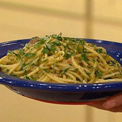 Pasta: Milanese Spaghetti @keyingredient #cheese #chicken