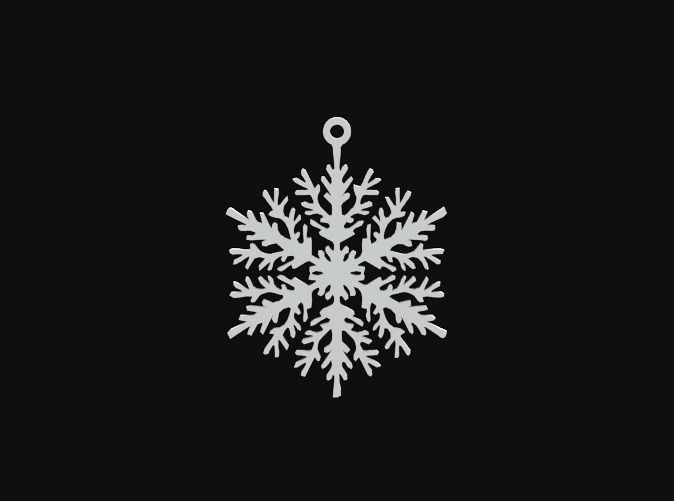 Snowflake 02 by vanca - 3D printed ornament