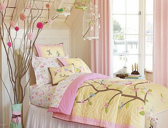 Nature theme with pink and yellow