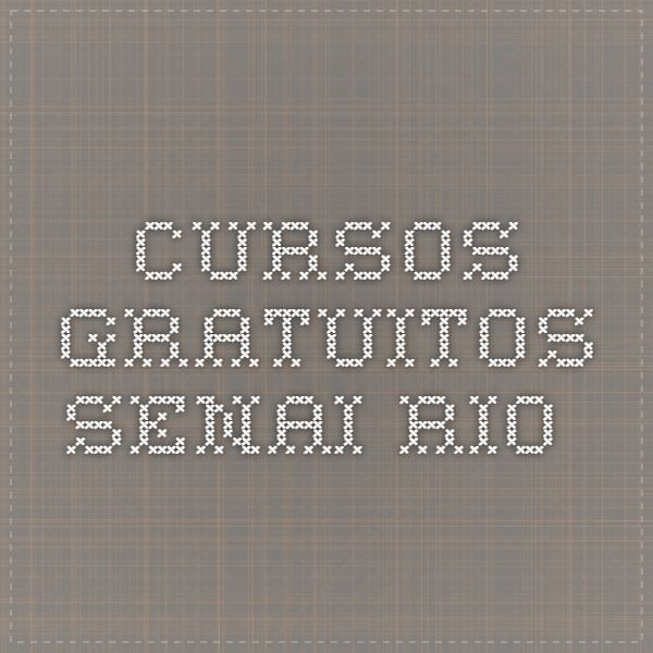 Cursos Gratuitos SENAI Rio
