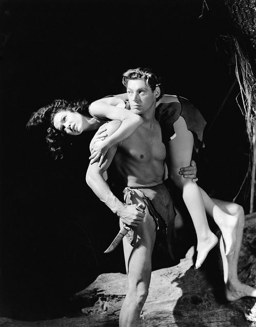 "Maureen O'Sullivan and Johnny Weissmuller  publicity still for the 1934 movie ""Tarzan and His Mate""  de ""Vintage-Stars"" on Flickr"