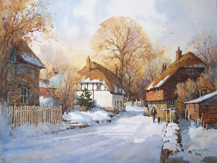 Ian Ramsay Watercolors - Ogbourne St.Andrew, England