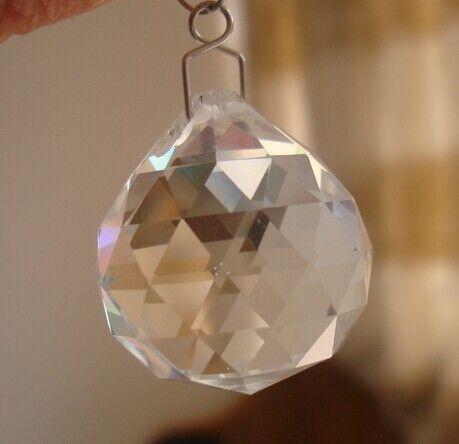 40 шт./лот 40 мм люстры de cristal ясно хрустальный шар бесплатно 40 шт./лот крючки свадебные украшения бесплатная доставка