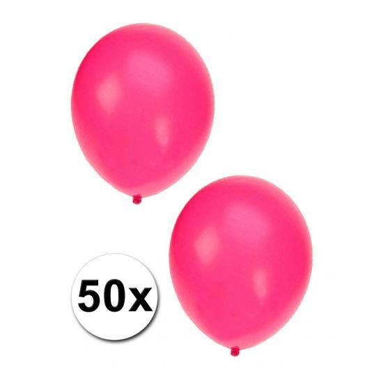 Zakje met 50 roze feest ballonnen  50 Roze ballonnen. De ballonnen zijn ongeveer 27 cm lang en kunnen gevuld worden met helium en lucht.  EUR 5.00  Meer informatie