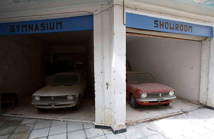 Abandoned cars. UN buffer zone, Cyprus.