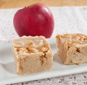 apple pie fudge - need cider, evaporated milk, white chocolate, dried apple; caramel sauce if desired