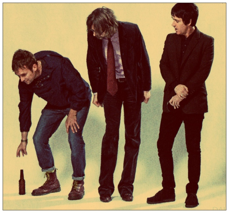 Some of my favourite people all in one photo: Damon Albarn - Jarvis Cocker - Johnny Marr