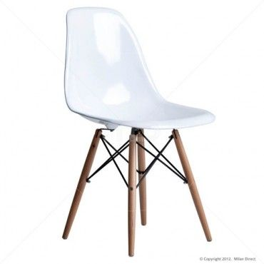Eames Replica DSW Chair - White - Buy the Replica DSW Dining Chair and Charles and Ray Eames Replica from Milan Direct