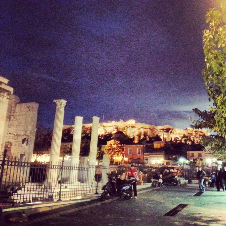 Athens by night...