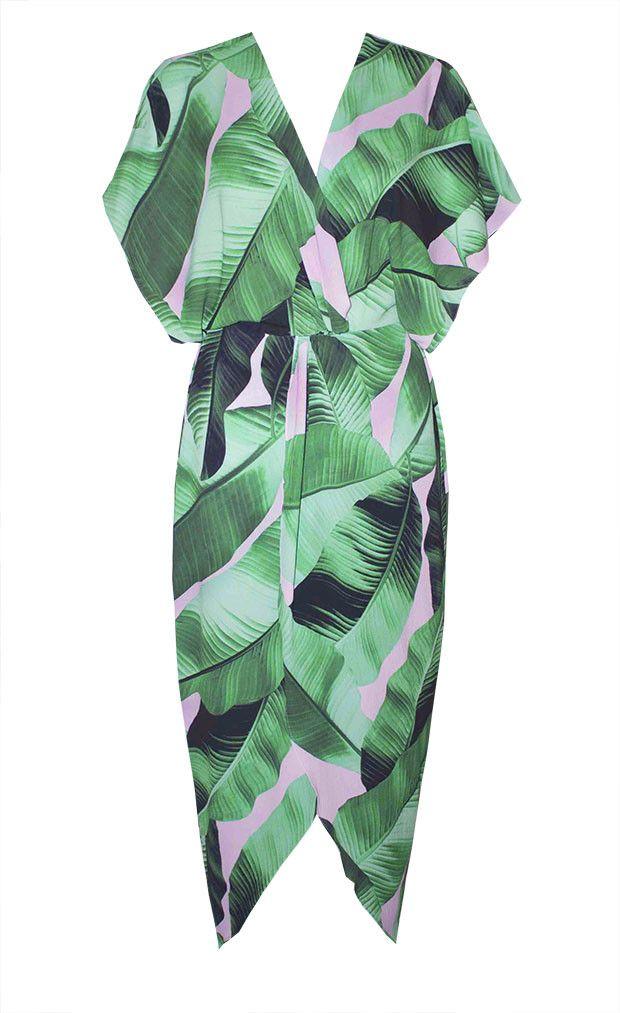 Danni Green Print Dress