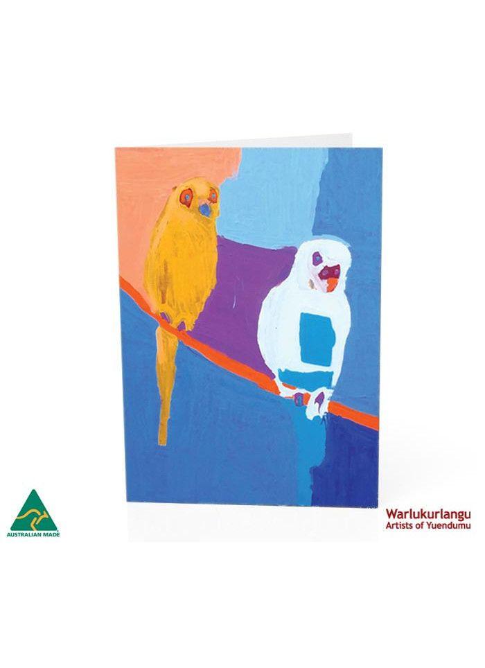 Birds of Yuendumu  Art Card -  Blue Two
