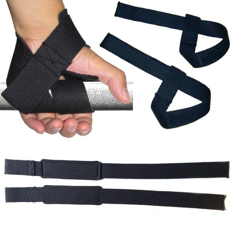 Poids De Levage Poignet Main Bar Sangle De Support Brace Soutien Gym Sangles Poids De Levage wrap Body Building Grip Gant 1 Paire