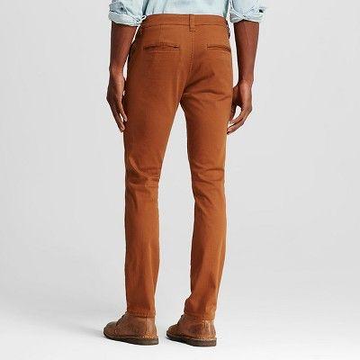 Chor Men's Slim Fit Stretch Tapered Chino Pants - Tobacco (Black) 34x32