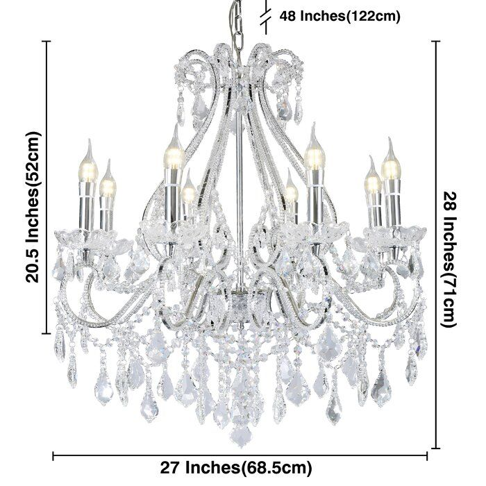 Belby 8 Light Candle Style Classic Traditional Chandelier Chandelier Candles Cool Floor Lamps