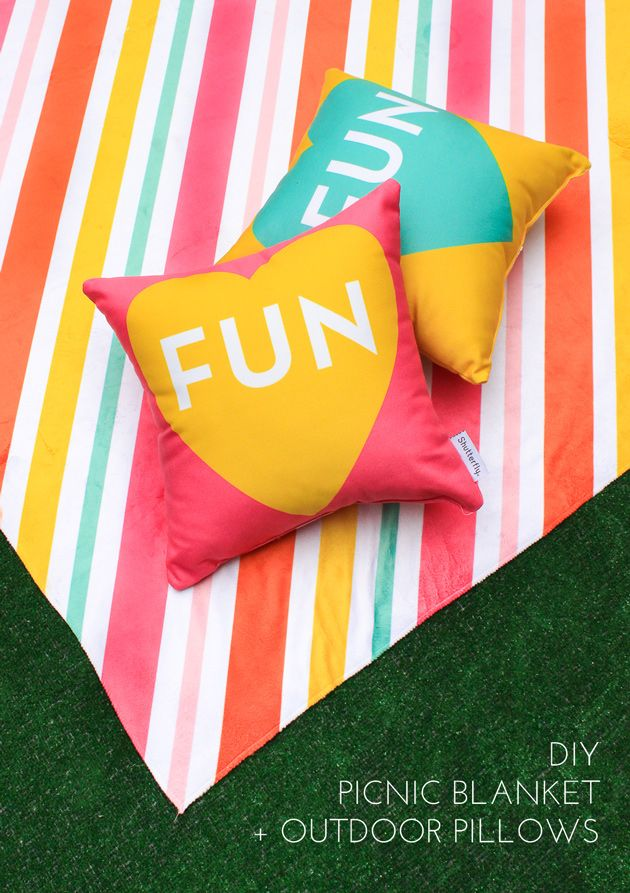 Throw a colorful picnic this summer with these free printables for making your o…  – DIY Craft Projects