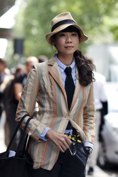 THAT BLAZER.Hats, Fashion, Men Style, Street Style, Style Icons, Tomboys Style, The Offices, Personalized Style, Stripes