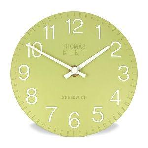 Thomas Kent Cotswold Fern Mantel Clock, 6 Inch Green Clock, Small Green Clock, Thomas Kent Clocks