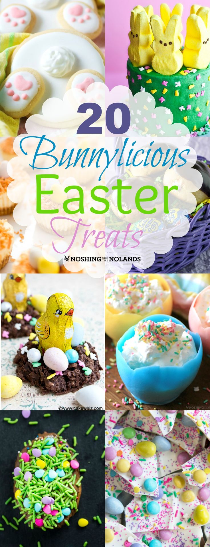 20 Bunnylicious Easter Treats from Noshing With The Nolands will bring a smile to anyone's face. They are fun to make and share!