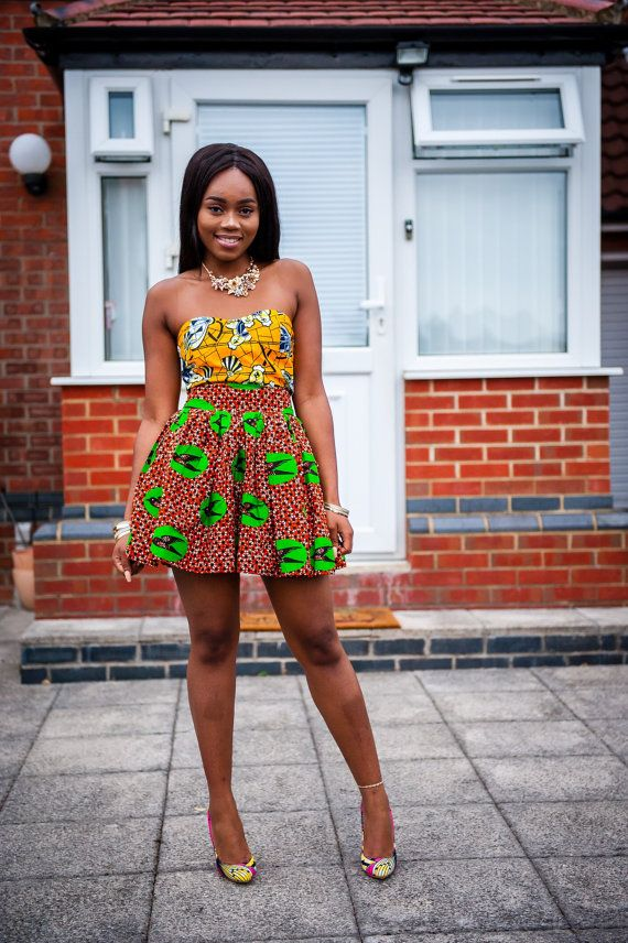 African dress African skirt African clothing for women by Laviye