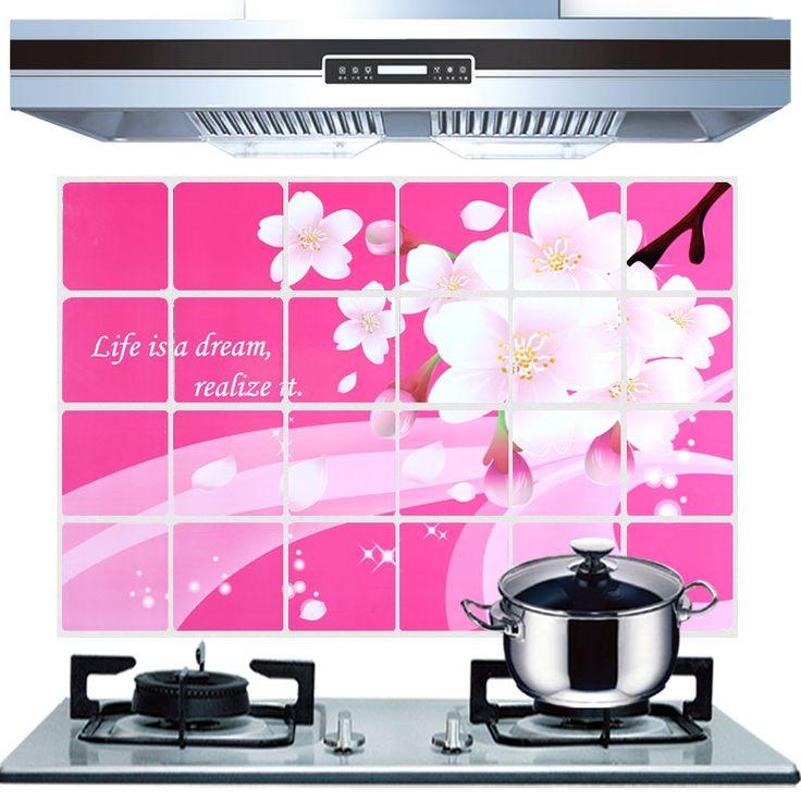Масло вставка большие кухня наклейки высокая термостойкость 60 * 90 см ламповая копоть алюминиевая фольга стена наклейка