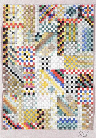Design for a carpet ca. 1927 26.8x20 cm Victoria & Albert Museum, London