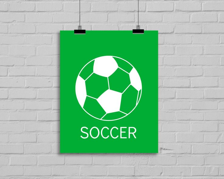 Soccer Wall Art - Modern Wall Decor - Nursery Decor - Children's Wall Art - Playroom Decor - Soccer Decor - Sports Decor - Kids Room Decor by SimplyLoveCreations on Etsy https://www.etsy.com/listing/189247789/soccer-wall-art-modern-wall-decor