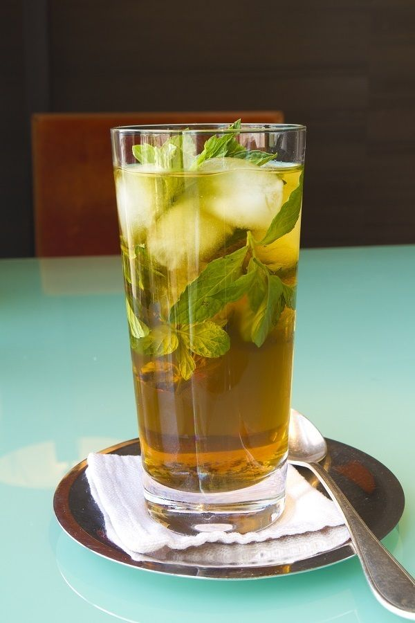 Enjoy an organic peppermint tea at Grand Hyatt Amman.