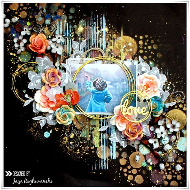"""My Craft World: """"Love"""" mixed media Layout for ColourArte"""