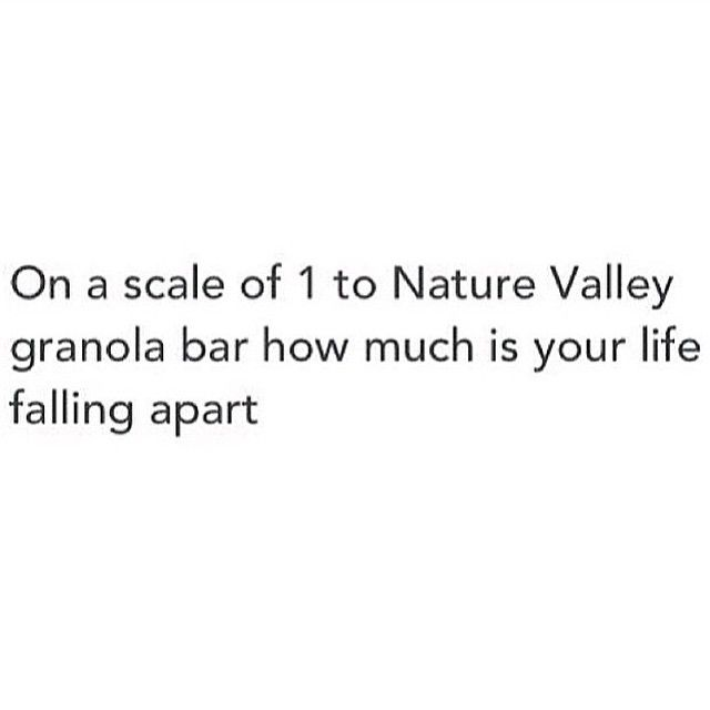 the Nature Valley Granola Bar that's been at the bottom of you bag for ages and its reduced to something smaller than crumbs. get me?
