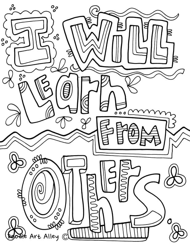 Growth Mindset Coloring Pages from Classroom Doodles