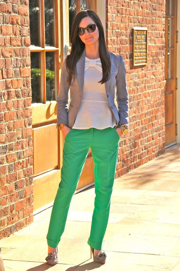 Pants: Asos | Blazer: H & M | Top: Asos | Cuff: Tory Burch | Watch: Michael Kors | Earrings: Nadri | Bracelet: J. Crew | Sunnies: Ray Ban | Shoes: Badgley Mischka | Handbag: Kate Spade