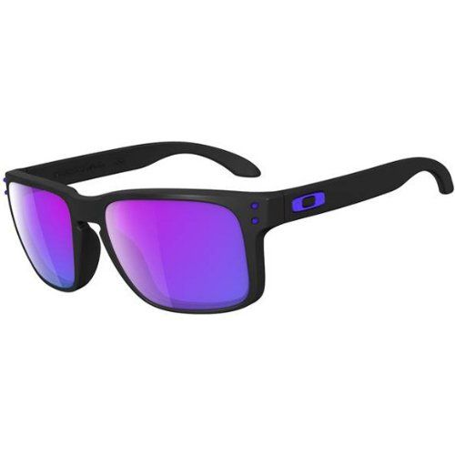 Oakley Julian Wilson Holbrook Men's Special Editions Signature Series Lifestyle Sunglasses - Matte Black/Violet Iridium /... $140