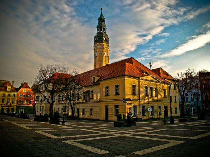 Ratusz i Stary Rynek w Zielonej Górze