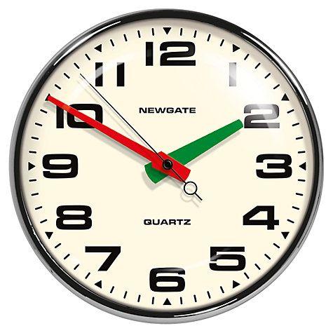 Buy Newgate Brixton Wall Clock, Chrome Online at johnlewis.com