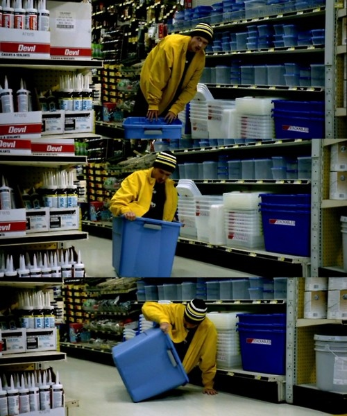 Breaking Bad ..... Hmmmm... Which tub will fit a human body ?...  I laughed at this scene