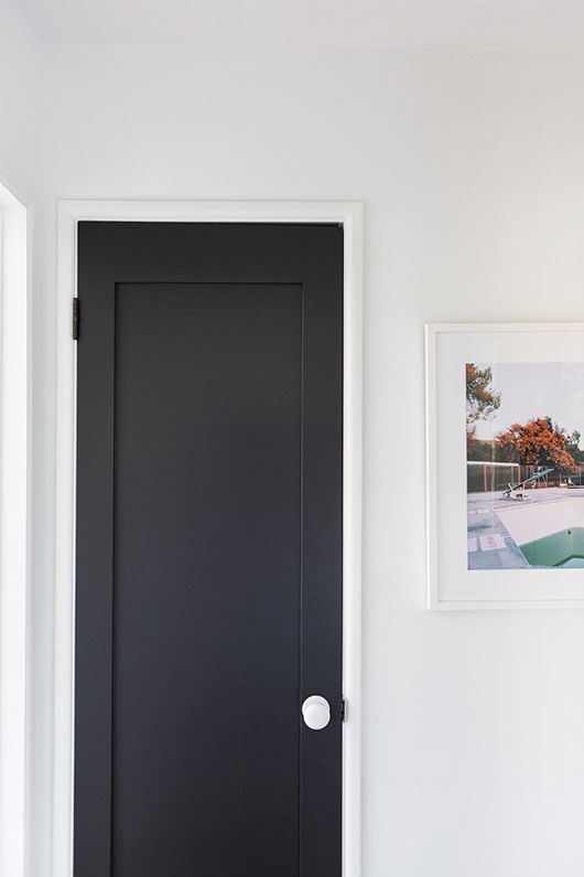 Black Salvaged Doors Sfgirlbybay Walls Oxford White
