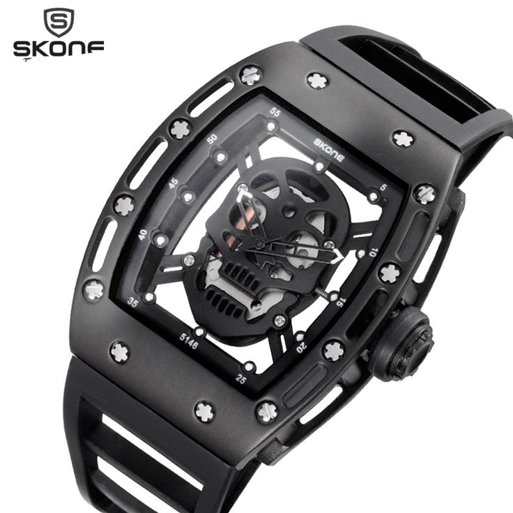 Pirate Skull Style Quartz men Watches Brand Men Military Silicone Men