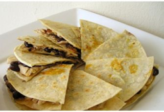 Quesadillas au poulet et aux haricots noirs | Club Bien Mincir
