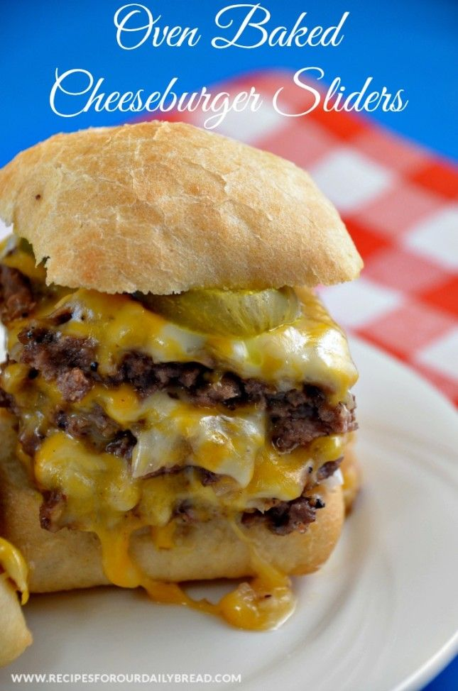 Oven Baked Cheeseburger Sliders  |  Recipes For Our Daily Bread
