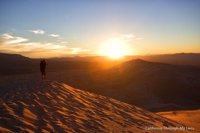Southern California Hikes: Kelso Dunes, the largest sand dunes in southern California. Mojave National Preserve