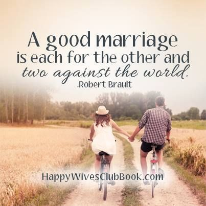 A good marriage is each for the other and two as Good's light in the world
