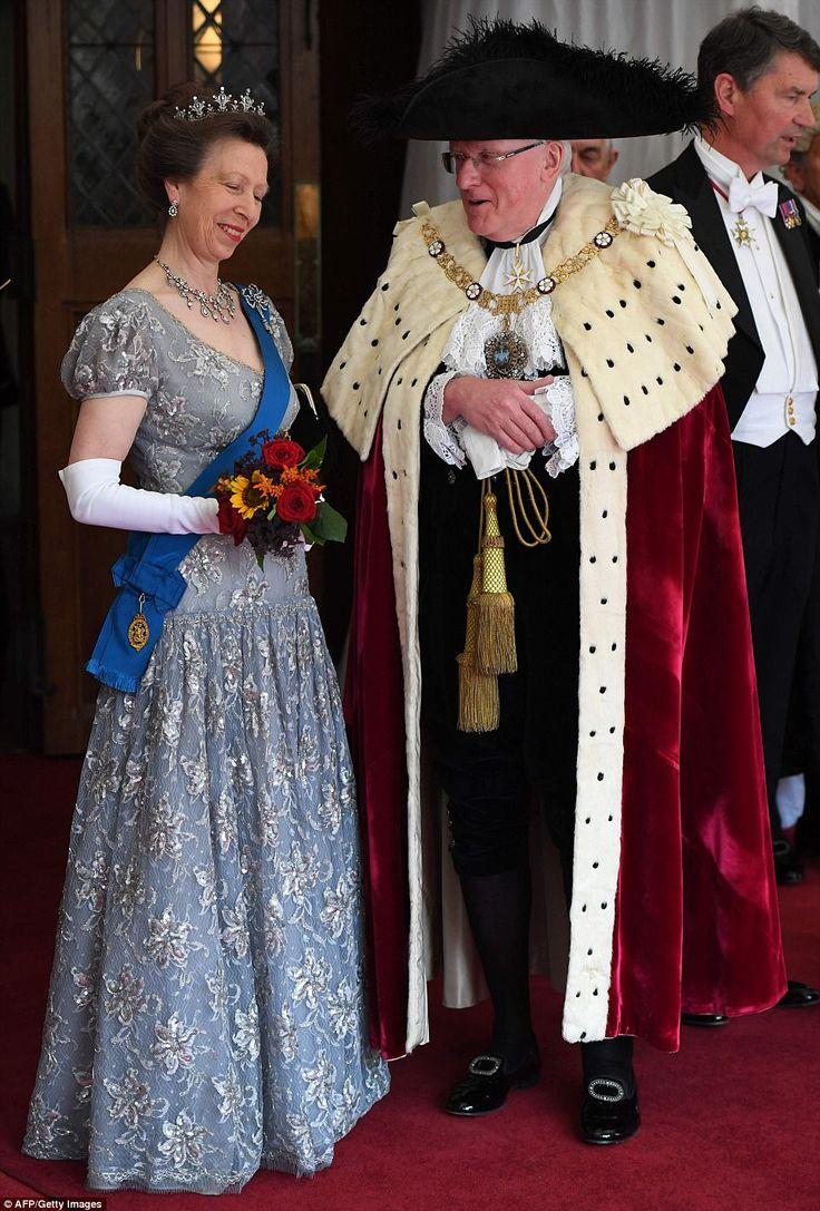 Princess Anne Dazzles In Diamonds