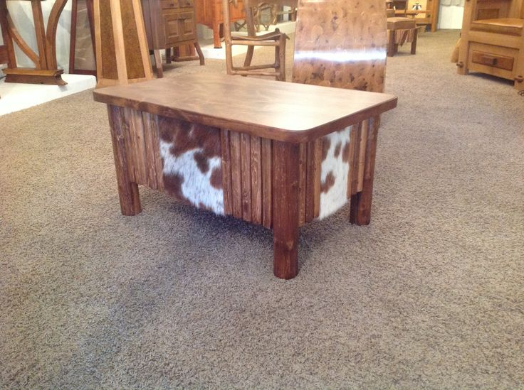 Hair on cowhide coffee table It would