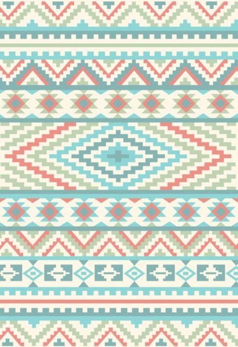 Pattern/Design/Art/Illustration/inspiration    Hipster Pastel tribal pattern