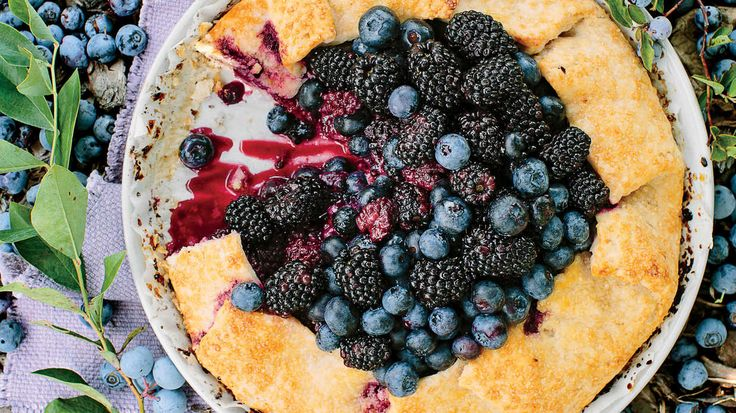 Double Berry-Almond Galette - Fresh Blackberry Dessert Recipes - Southern Living - Here's a great baker's secret: Adding a splash of vodka to dough will give you a super-flaky crust, and the alcohol burns off while baking. We prefer to make this dough by hand; you can use a food processor, but the final result will yield a more crumbly, cookie-like texture.    Recipe:Double Berry-Almond Galette