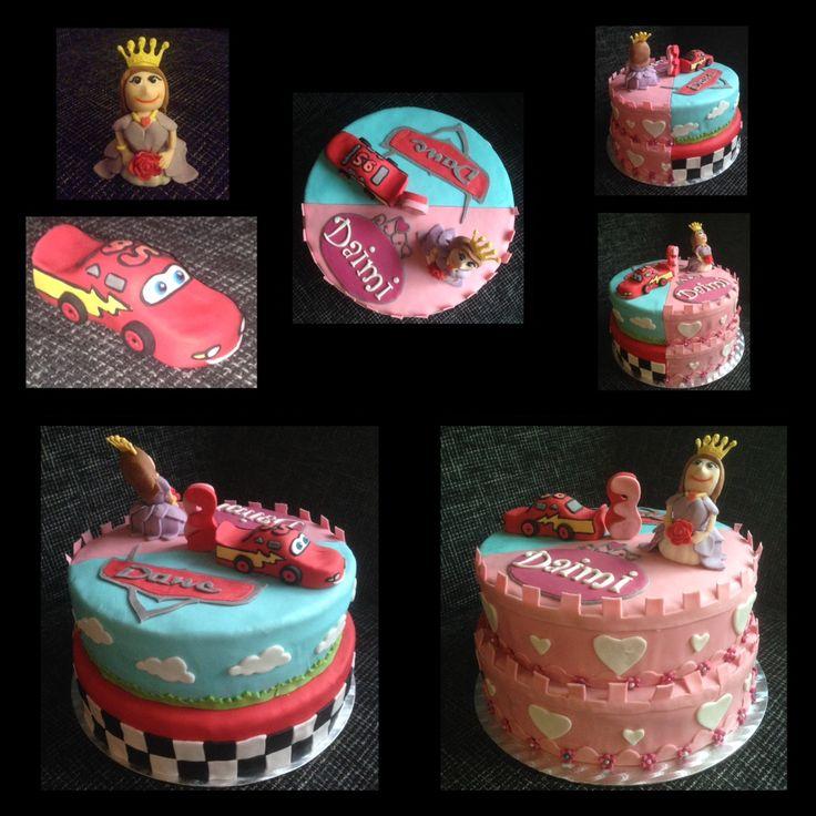 Prinses cars taart